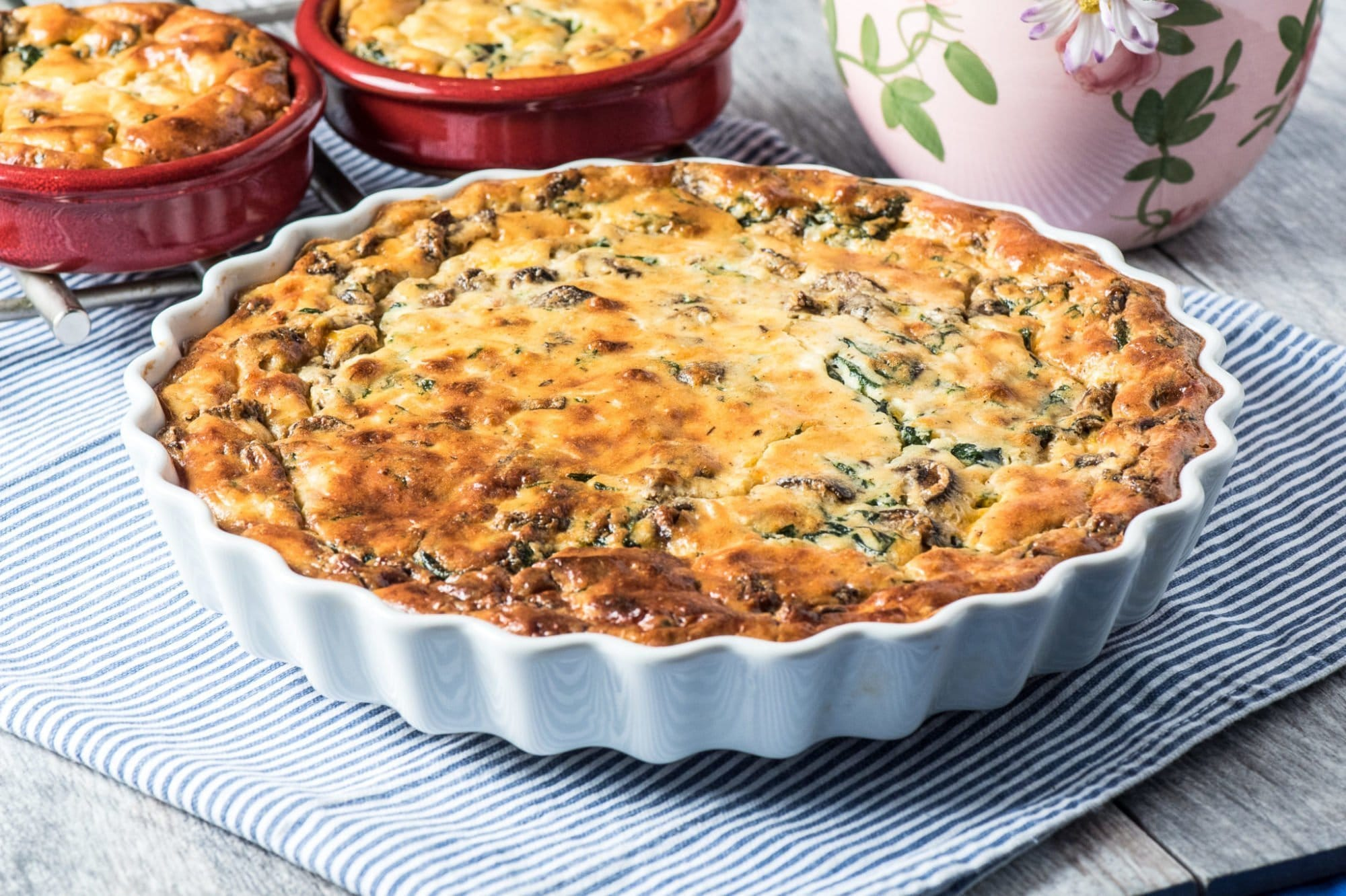 Crustless Quiche With Spinach And Ricotta Tasty Low Carb